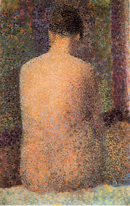 莫德洛德Espaldas 通过 Georges Pierre Seurat (1859-1891, France) | 幀打印 | WahooArt.com