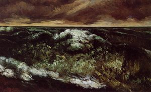Gustave Courbet - 愤怒的海