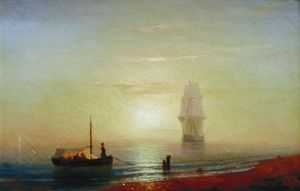 Ivan Aivazovsky - Sunseat 上 大海