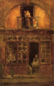 James Abbott Mcneill Whistler - 一家店  与 一个 阳台