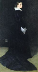 James Abbott Mcneill Whistler - 安排 黑色 ,  没有 . 2 . 夫人的画像 . 路易 胡特