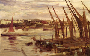 James Abbott Mcneill Whistler - 巴特西河段