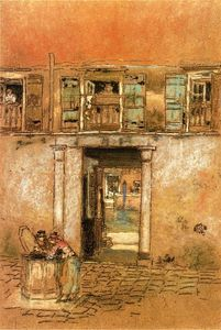 James Abbott Mcneill Whistler - 庭院和运河