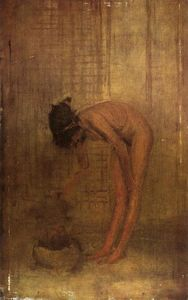 James Abbott Mcneill Whistler - 裸体  女孩与 a  碗