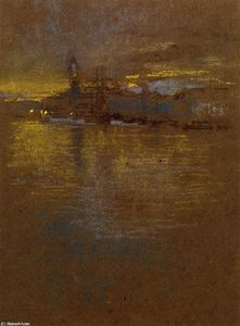 James Abbott Mcneill Whistler - 横跨泻湖景观
