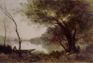 Jean Baptiste Camille Corot - Mortefontaine的船夫