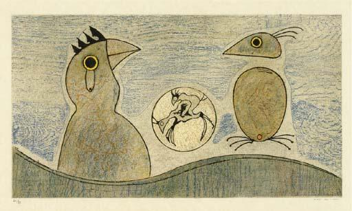 德塞夫勒OISEAUX, 油 通过 Max Ernst (1891-1976, Germany)