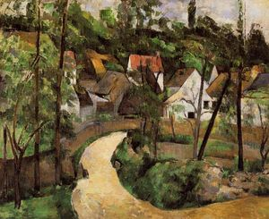 Paul Cezanne - a `turn`  在  道路