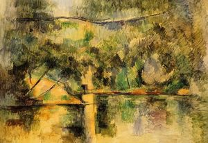 Paul Cezanne - reflections`  在  水