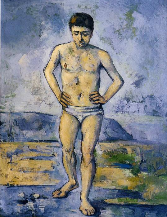 的  大  沐浴者, 1885 通过 Paul Cezanne (1839-1906, France) | 傑作拷貝 | WahooArt.com