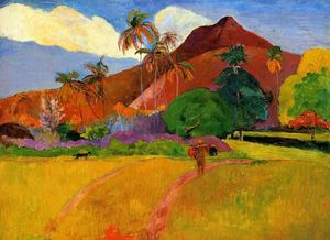 Paul Gauguin - 在塔希提岛山