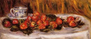 Pierre-Auguste Renoir - 静物  与 `strawberries` 1