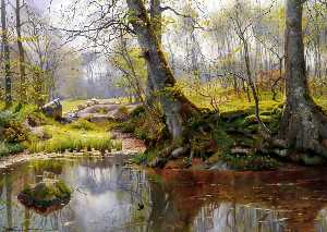Peder Mork Monsted - 宁静的池塘