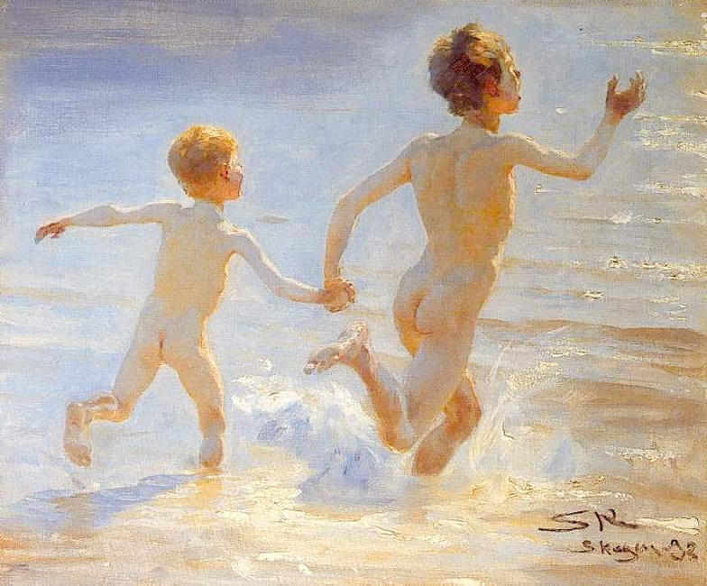 巴利阿里斯卡恩1, 油 通过 Peder Severin Kroyer (1851-1909, Norway)