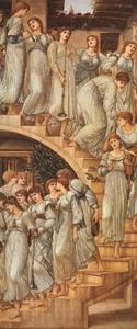 Edward Coley Burne-Jones - 黄金楼梯 ( 又名 'The King's Wedding' 或 'Music  上 Stairs' )