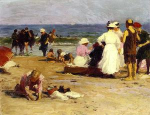 Edward Henry Potthast - 在冲浪泳客