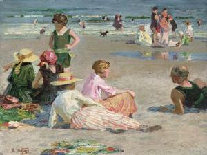 Edward Henry Potthast - 曼哈顿 海滩