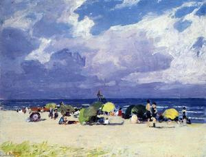 Edward Henry Potthast - 紫色 河岸  场景