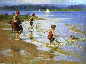 Edward Henry Potthast - Young  泳客 1