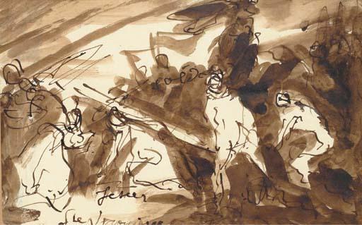 耶稣背着十字架与圣维罗尼卡他附近 通过 Emile Bernard 1868 1941,