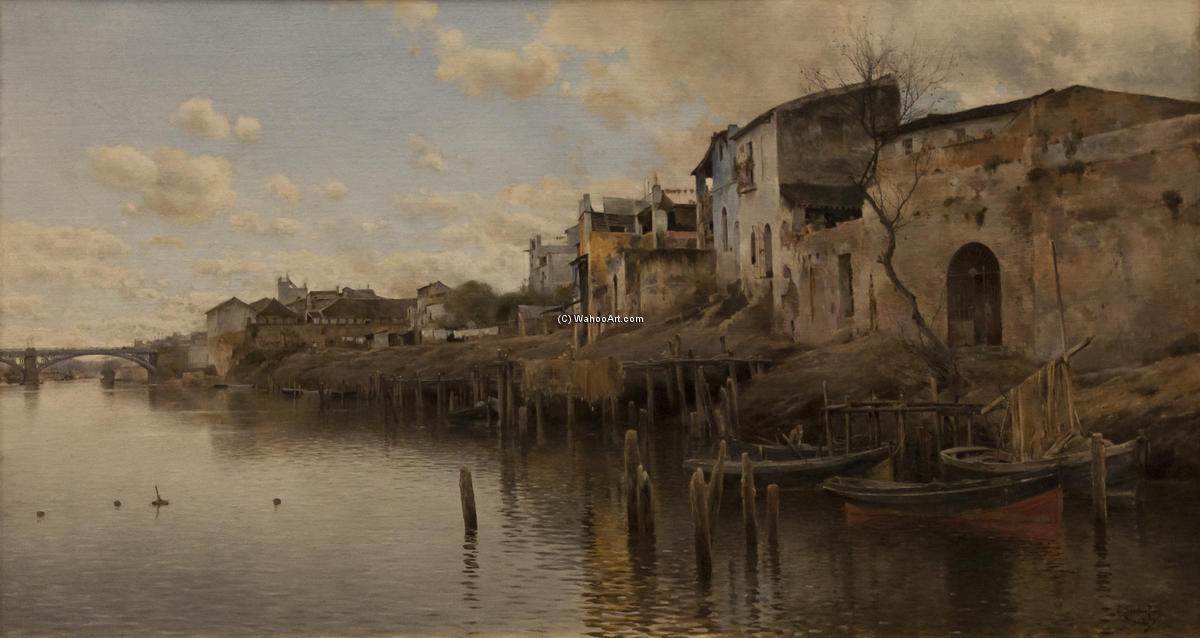 堤亚纳 通过 Emilio Sanchez-Perrier (1855-1907, Spain) | 幀打印 | WahooArt.com