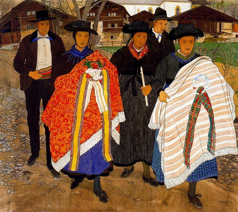 从返回洗礼 通过 Ernest Bieler (1863-1948, Switzerland)