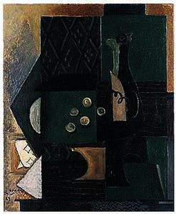 Georges Braque - 瓶子 葡萄