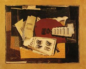 Georges Braque -  吉他  和 `sheet` 音乐
