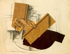 Georges Braque - 静物  上  表. `gillette`