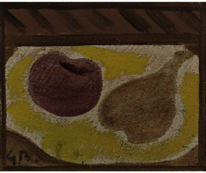 Georges Braque - 静物.  苹果  和 `pear`