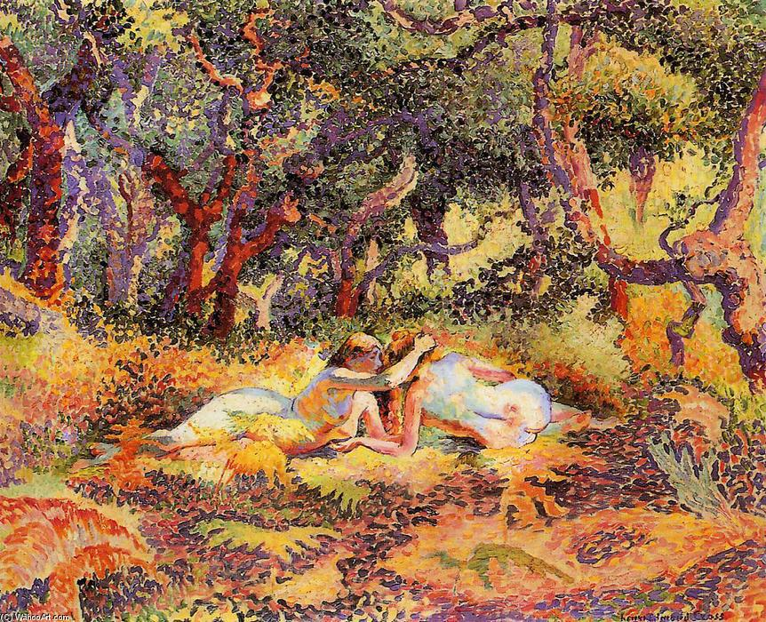 顺序 傑作拷貝 : 森林, 1906 通过 Henri Edmond Cross (1856-1910, France) | WahooArt.com
