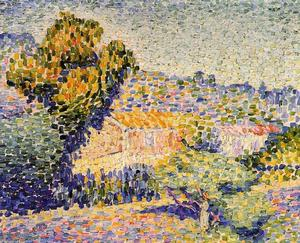 顺序 畫再現 : 粉红色的 家 , 1901 通过 Henri Edmond Cross (1856-1910, France) | WahooArt.com