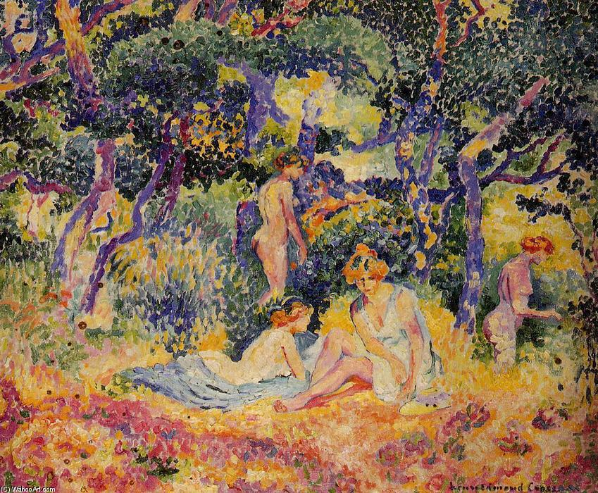 森林, 1906 通过 Henri Edmond Cross (1856-1910, France) | 幀打印 | WahooArt.com