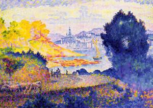 Henri Edmond Cross - 查看芒通的