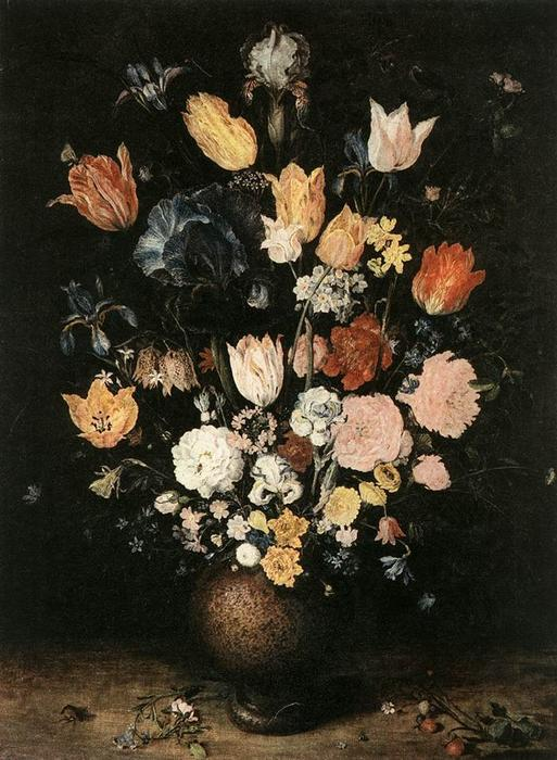 一束鲜花, 通过 jan brueghel the elder (1568-1625