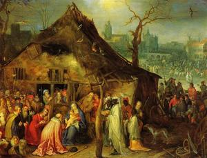 Jan Brueghel The Elder - 崇拜 of  贤士 1