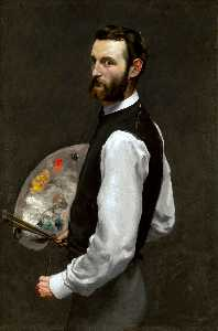 Jean Frederic Bazille - 自画像调色板