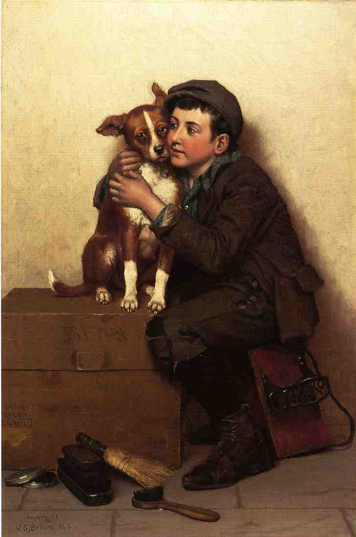 对  他 将 通过 John George Brown (1831-1913, United Kingdom)