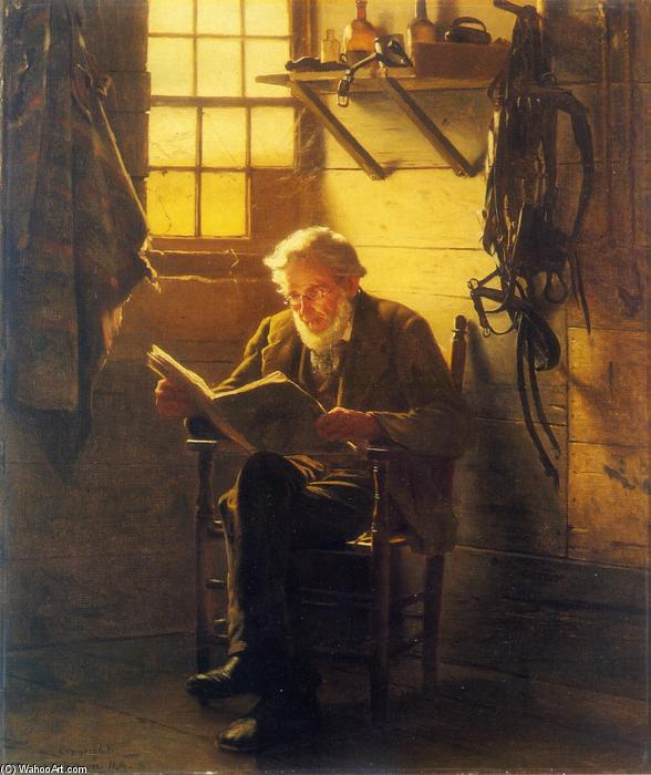 空闲时光 通过 John George Brown (1831-1913, United Kingdom) | WahooArt.com