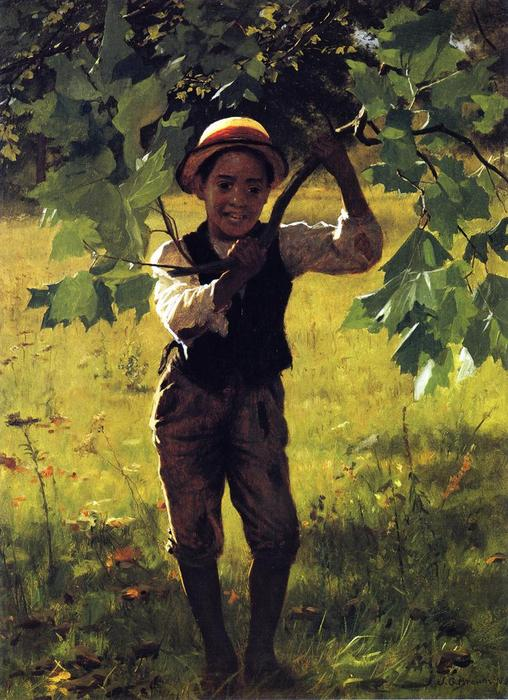 如何D 你们, 油画 通过 John George Brown (1831-1913, United Kingdom)