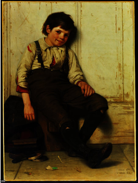 懒人 通过 John George Brown (1831-1913, United Kingdom) | 畫再現 | WahooArt.com