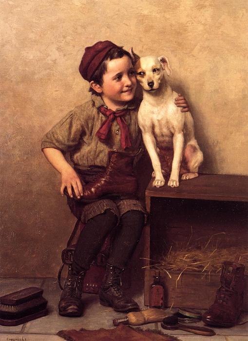 我的伙计, 油画 通过 John George Brown  (顺序 美術 海報在畫布上 John George Brown)