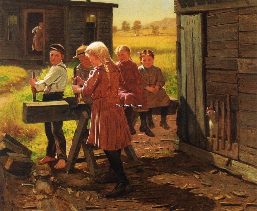 勤劳的家庭, 1905 通过 John George Brown (1831-1913, United Kingdom) | WahooArt.com