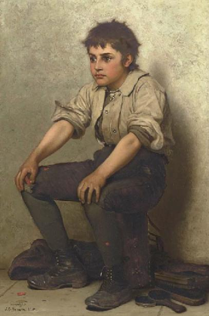思前想 通过 John George Brown (1831-1913, United Kingdom)