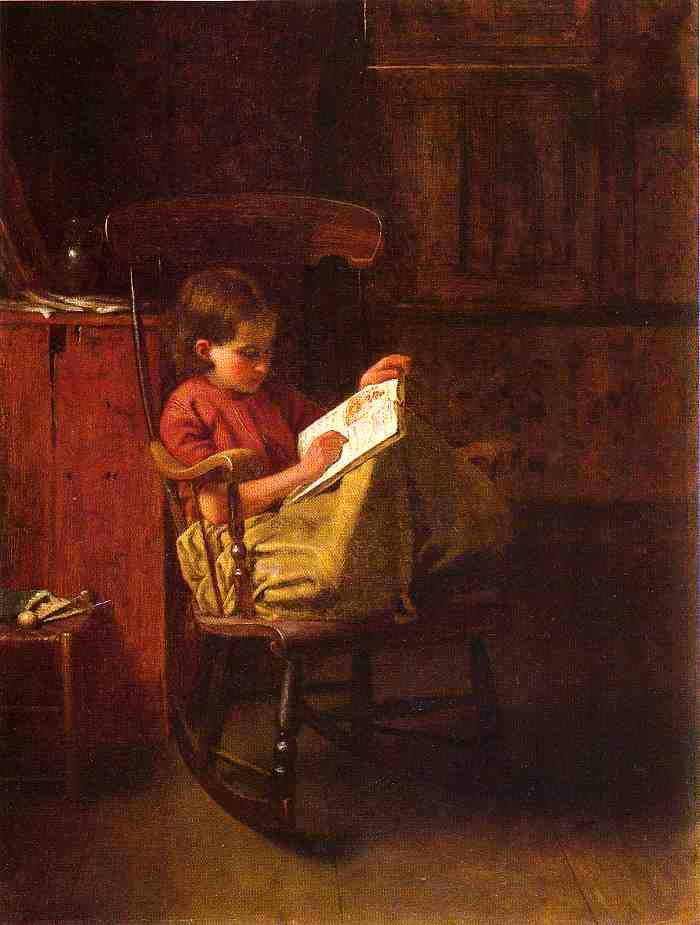 波士顿摇臂 通过 Jonathan Eastman Johnson (1824-1906, United Kingdom)