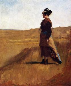Jonathan Eastman Johnson - 女性  上  山