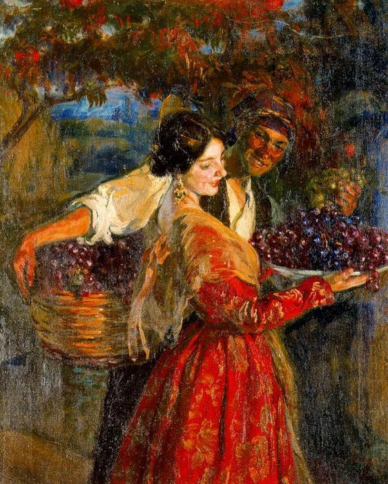 葡萄采摘 通过 josé mongrell torrent (1870-1937