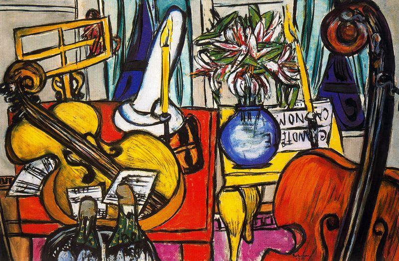 静物与大提琴和低音提琴图片
