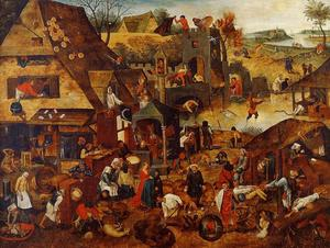 Pieter Bruegel The Younger - 佛兰芒语谚语