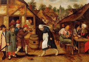 Pieter Bruegel The Younger -  的 蛋 舞蹈